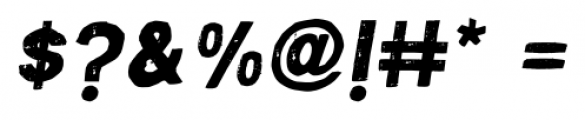 Macabro Italic Font OTHER CHARS