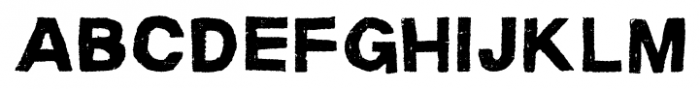 Macabro Rough Font LOWERCASE