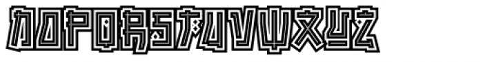 Manganese Outline Font LOWERCASE