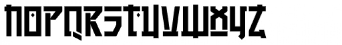 Manganese Solid Font UPPERCASE