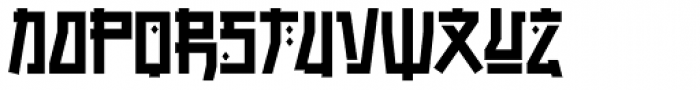 Manganese Solid Font LOWERCASE