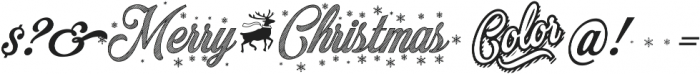 Merry Christmas Color ttf (400) Font OTHER CHARS