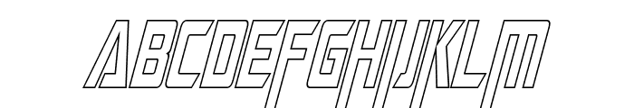 Megatron Condensed Hollow Italic Font UPPERCASE