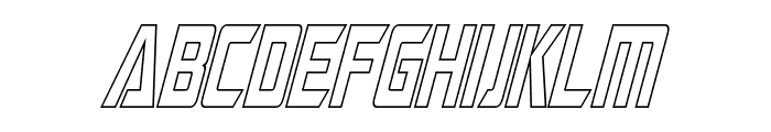 Megatron Condensed Hollow Italic Font LOWERCASE