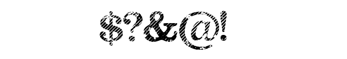 Megeon Grunge Font OTHER CHARS