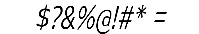 MesmerizeScLt-Italic Font OTHER CHARS