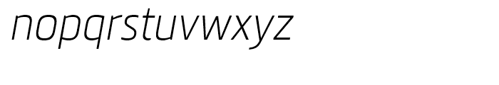 Metronic Condensed Air Italic Font LOWERCASE