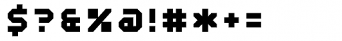 Mechanical ExtraBold Font OTHER CHARS