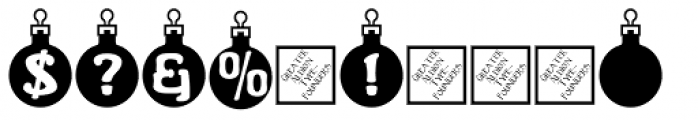 Merry Bauble Letters Font OTHER CHARS