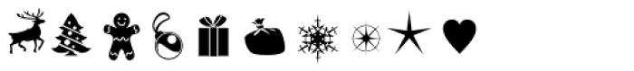 Merry Christmas Star Font OTHER CHARS