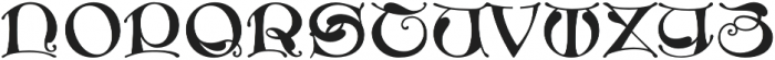MFC Medieval Monogram Regular otf (400) Font UPPERCASE