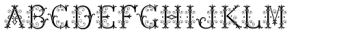 MFC Chaplet Stencil Mngm 25000 Impressions Font UPPERCASE