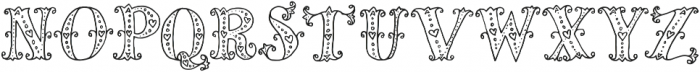 Mia Bella Lighthearted ttf (300) Font UPPERCASE
