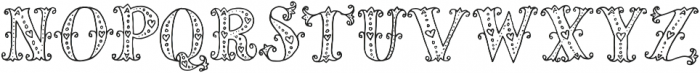 Mia Bella Lighthearted ttf (300) Font LOWERCASE
