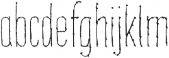 Mibelle Extra Condensed Light otf (300) Font LOWERCASE
