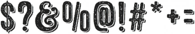 Microbrew Unicase Three 3D otf (400) Font OTHER CHARS