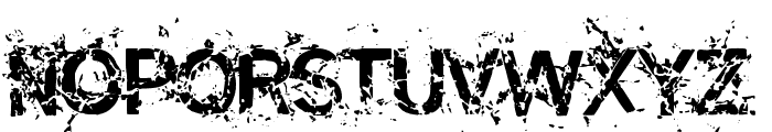 Miasm Outfection Font UPPERCASE