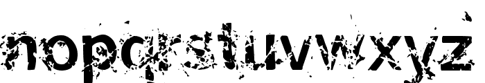 Miasm Outfection Font LOWERCASE