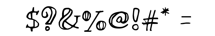 Miltonian Font OTHER CHARS