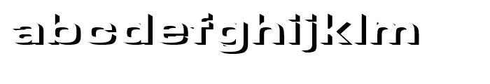 Microgramma Onlyshadow Bold Extended d Font LOWERCASE
