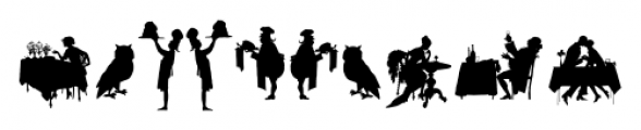 Mixed Silhouettes Four Font OTHER CHARS