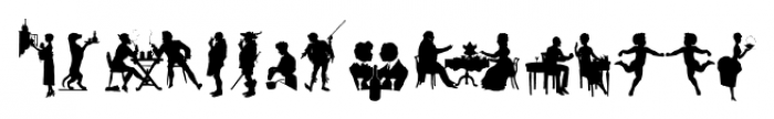 Mixed Silhouettes Four Font LOWERCASE