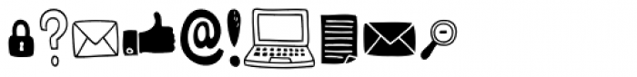 Mimbie Web Social Media Icons Font OTHER CHARS