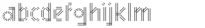 Mineral Border Font LOWERCASE