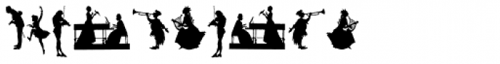 Mixed Silhouettes Three Font OTHER CHARS