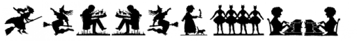 Mixed Silhouettes Font OTHER CHARS
