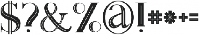 Monophone Inline otf (400) Font OTHER CHARS