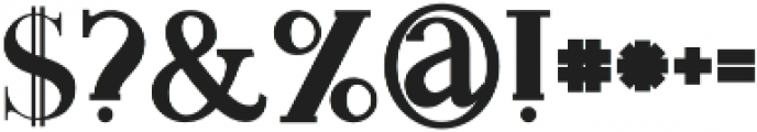 Monophone bold otf (700) Font OTHER CHARS