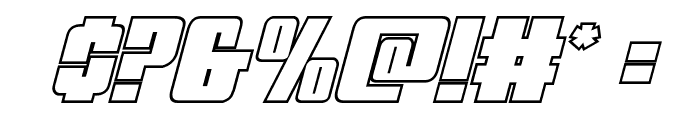 Mobile Infantry Outline Italic Font OTHER CHARS
