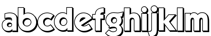 Mouser Outline Font LOWERCASE