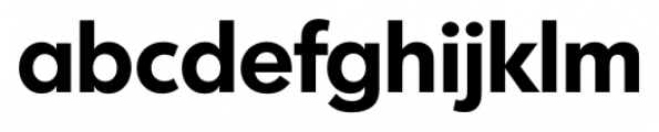 Montreal Serial Bold Font LOWERCASE