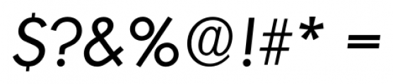 Montreal Serial Italic Font OTHER CHARS