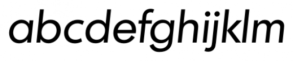 Montreal Serial Italic Font LOWERCASE