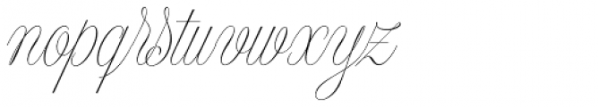 Model Small Standard One Font LOWERCASE