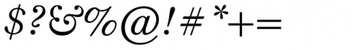 Monticello Pro Italic Font OTHER CHARS