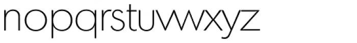 Montreal Serial ExtraLight Font LOWERCASE