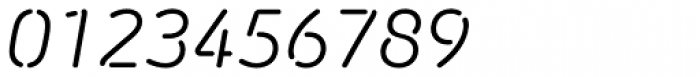 Morebi Rounded Italic Stencil Font OTHER CHARS