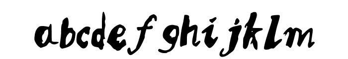 MQSSketchy Font LOWERCASE