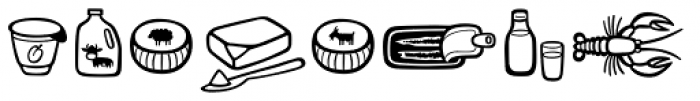 Mr Foodie Animal Prod Font OTHER CHARS