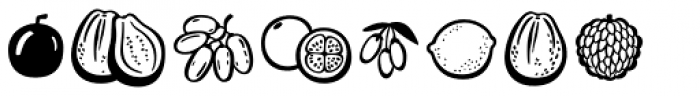 Mr Foodie Fruits Font OTHER CHARS