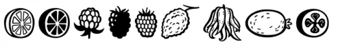 Mr Foodie Fruits Font LOWERCASE