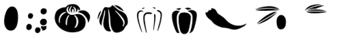Mr Foodie Veggies Front Font LOWERCASE