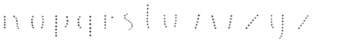 Mrs Berry Dots Font LOWERCASE