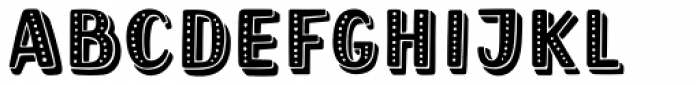 Mrs Berry Dotted Shaded Font UPPERCASE