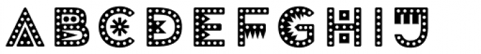 Mrs Onion Monsters Dotted Font LOWERCASE
