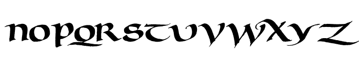 Murray Uncial Font LOWERCASE
